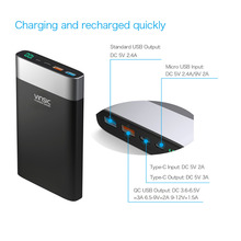 Type-C QC3.0 Quick Charge Mobile Power Bank 20000mah Power Banks