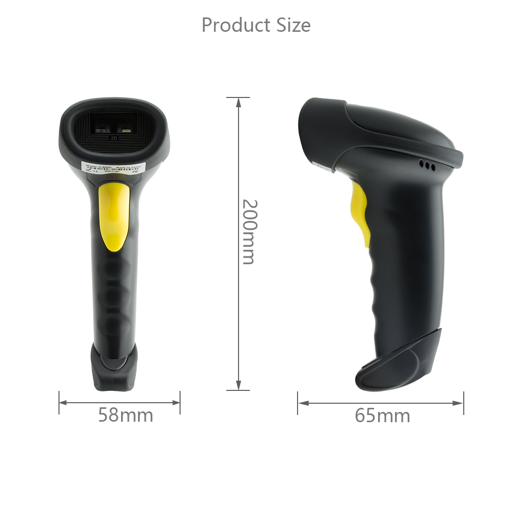 10M wireless Long range Handheld qr code android bluetooth barcode scanner 2d
