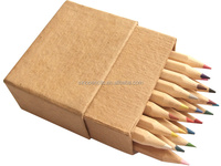 BSCI certificated short premimum color pencil gift pencil set packing in paper box