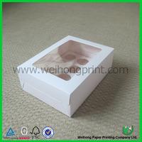 plain art paper cupcake box with insert sheet and window
