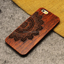 Real Wooden PC phone case for iPhone 6 skull head, simple bulk cell phone case for iPhone 6 for iPhone 8