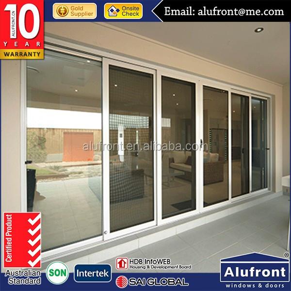 Aluminum Exterior Sliding Doors : Alufront aluminum exterior glass sliding doors one way