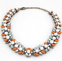 Precious Stone Pearl Vintage Choker Pendant Statement Necklace Women Necklaces & Pendants Fashion Necklaces for Women