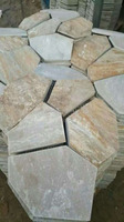 Natural Yellow Wooden Slate Culture Stone for Wall Cladding