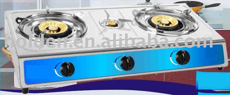 best sale best quality stainless steel 3 burner table top gas cooker