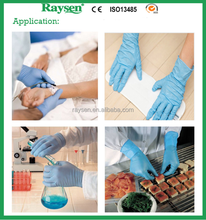 Malaysia best selling products disposable blue nitrile gloves / disposable long nitrile exam white glove