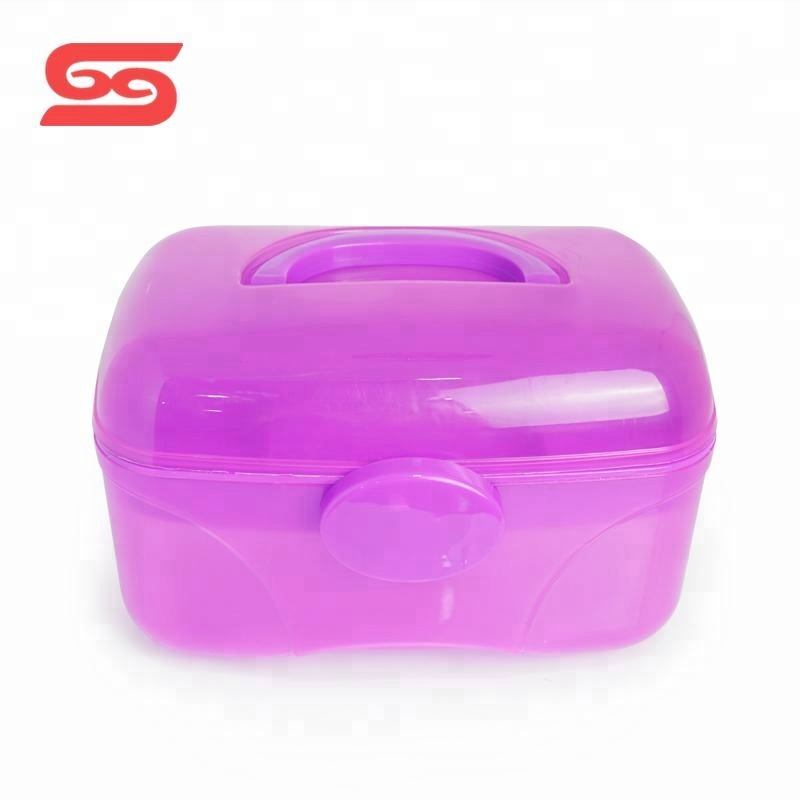Portable makeup plastic cosmetic case for <strong>travel</strong>