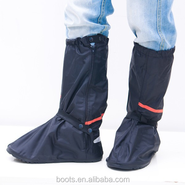 New design men and women's fashionable rain boot covers motorcycle