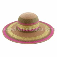 New Brand Attractive Womens Wide Big Brim party Straw Hats/women church hat