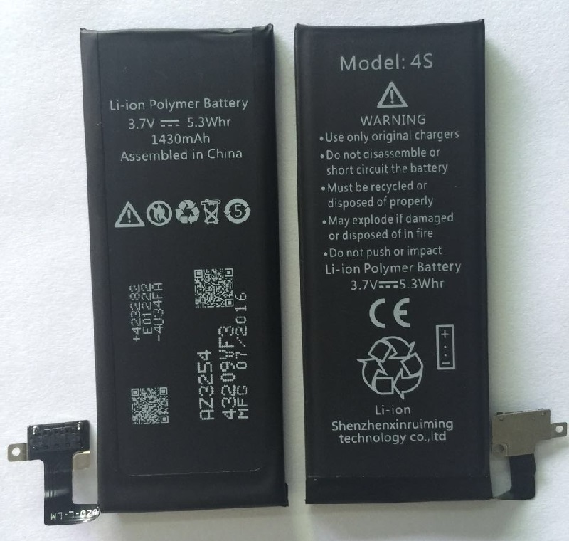 li-ion Mobile Phone Battery for iphone 4S 1430mAh OEM Battery