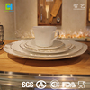 New Design Opal Glass Dinnerware Set Gold