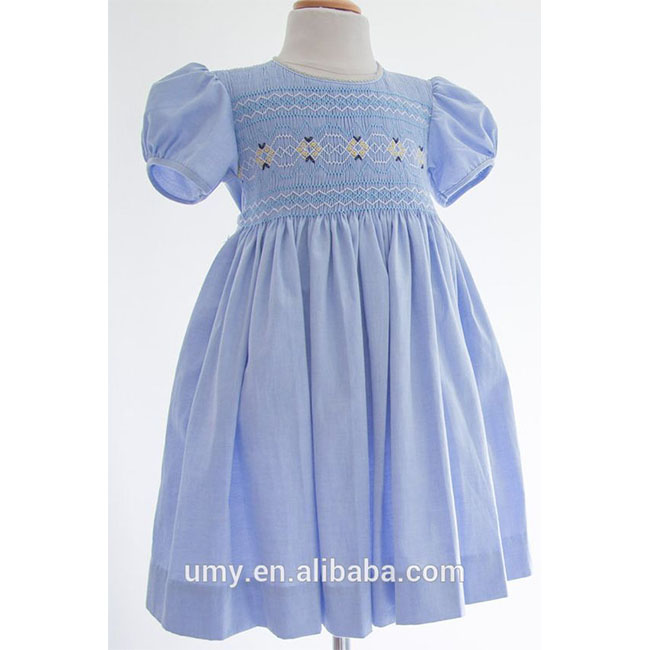 Summer Smocked Children Clothing Wholesale Baby Girl Dresses Smocked Clothes