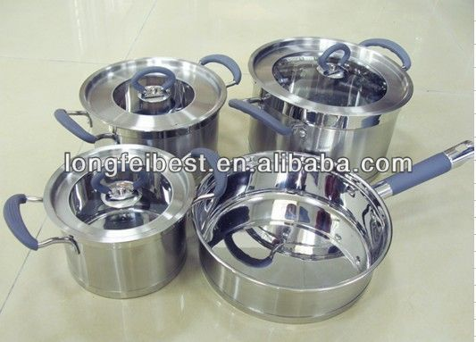 4pcs cookware set stainless steel pots/importer houseware