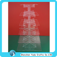 buy china cupcake stand clear acrylic wedding decorative cake shelf display rack in cheap price