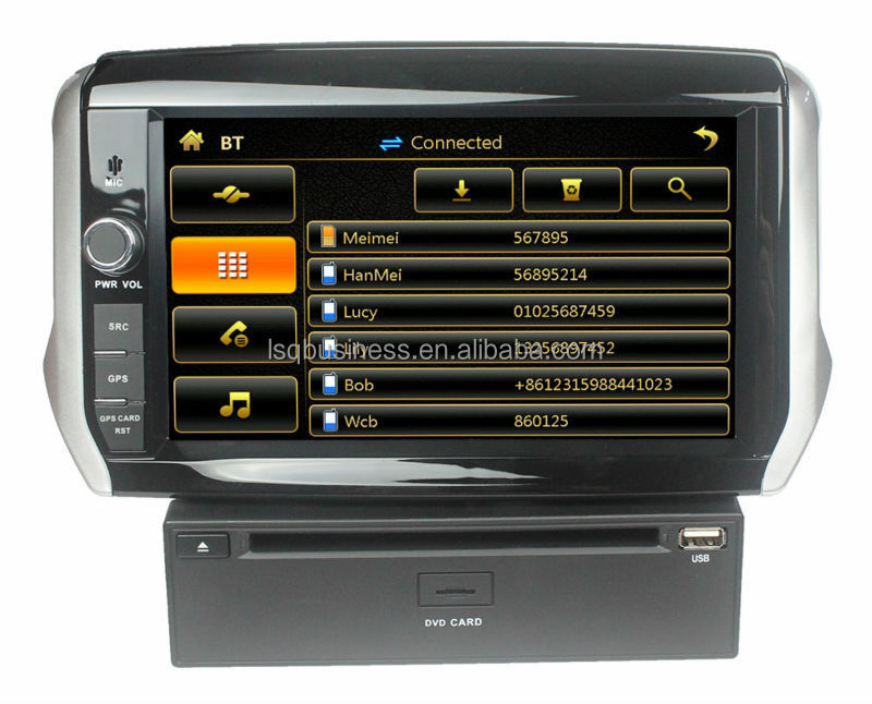in car dvd player for Peugeot 2008 Central multimedia gps radio autoradio gps