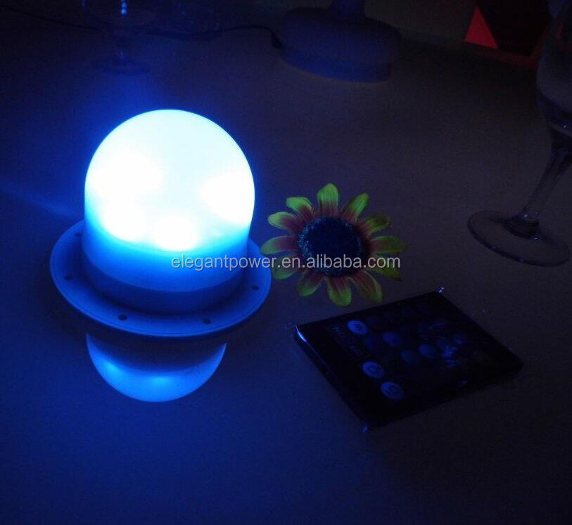 Elegant power IP 68 Water proof Wedding Decoration Portable Wireless Battery operated Under table led <strong>light</strong> for table wedding