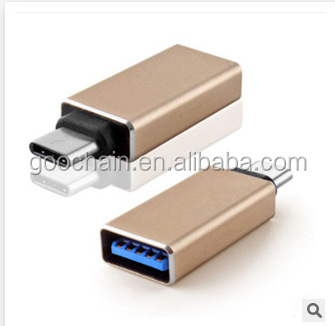 High speed USB3.0 female to Type C male USB C convert adapter for Apple New MacBook