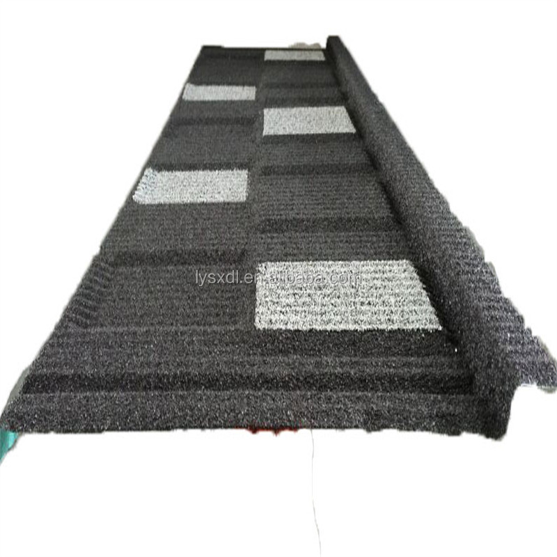 Stone chips coated steel tile of building material /metal roofing price asphalt shingles