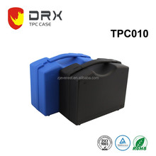 plastic material tool cases with lock and handle