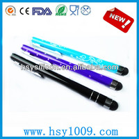 Popular Touch screen pen with silicone cap with writing function made in china