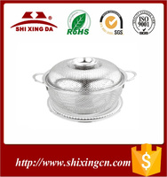 Dubai Market Popular Rose Golden Color Stainless Steel Food Strainer with Lid