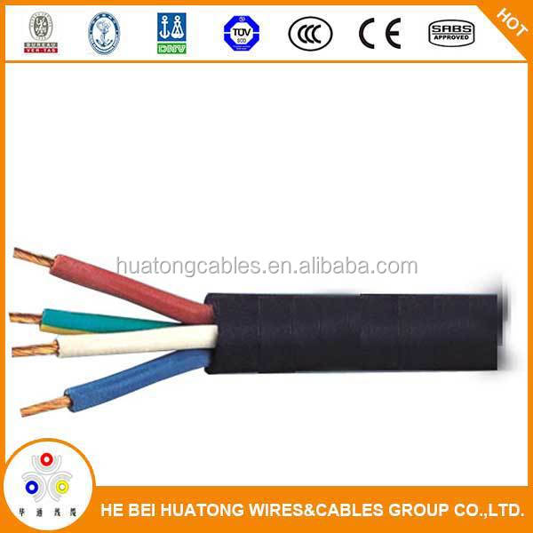 70mm copper conductor rubber insulated and sheathed 4 core power cable