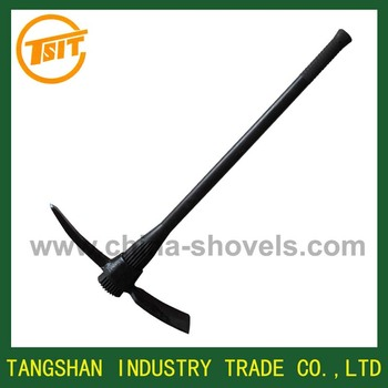 steel pickaxe with handle