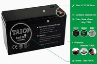 Storage ups battery maintence free 12v 7ah battery rechargeable