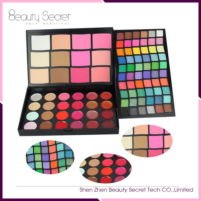Excellent Makeup Waterproof 96 color Private Label Eye Shadow Mixed Cosmetic Palette