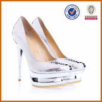 Genuine leather women fashion stripper shoes