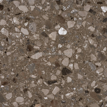 Coffee Brown Artificial Marble Stone With Big Grains