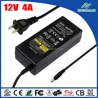 48W DC Switching Power Supply 12V 4A CCTV Camera Adapter With UL CE