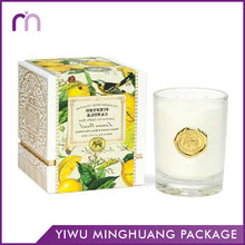 Wholesale Custom Home Decor Mango Favor White Yellow Color Luxury Gift Candle Packaging Box
