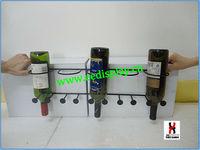 wall mounted wine glass bottle display rack