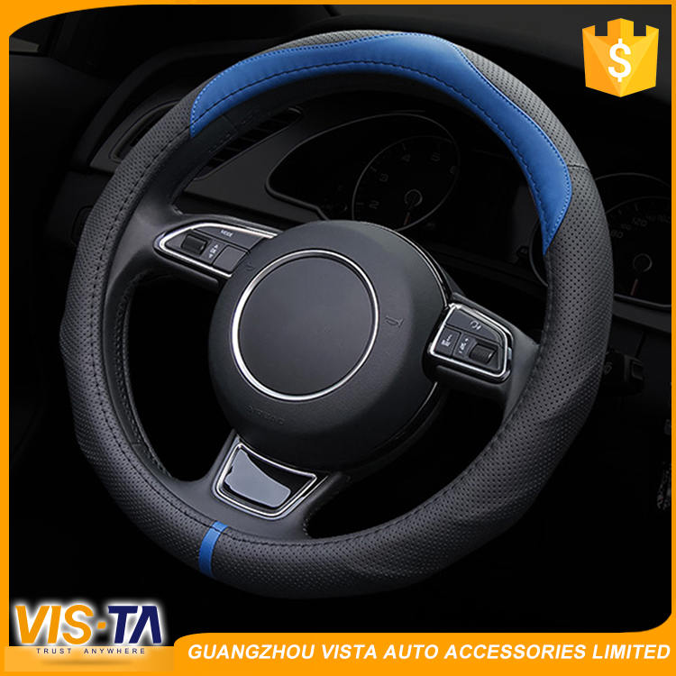 Best designer deign Anti-slip leather Auto car steering wheel cover