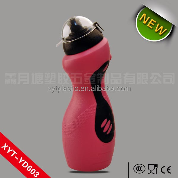 safe reusable plastic water bottles soft water bottle PE