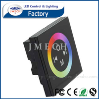 RGB LED Touch Controller Manual,Wall Mounted Touch Panel RGB LED Controller, DC12-24V RGB Touch Controller