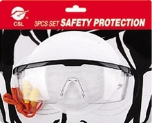 nose protection mask ear protection safty goggle