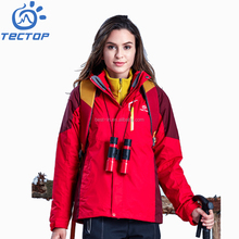 Red Windbreaker Jacket Women Elastic Hem Snowboard Clothing