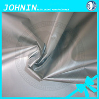 100%polyester taffeta 190t silver coated textiles waterproof fabric bag lining tent material umbrella fabric