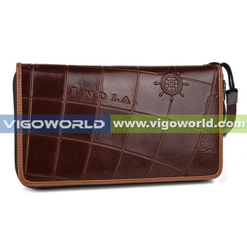 Women's real genuine leather wristlet wallet smartphone pouch large capacity with 12 card slots