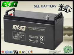 12v Battery charger solar power industry battery 120ah full gel battery