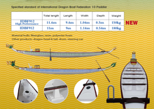 Dragon boat (4/10/20 paddler, fiberglass, good quality,IDBF,CDBF, 3th generation Dragon boat)