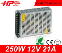 Manufacturing best quality and reasonable price single output constant voltage 250w 21amp power supply 12vdc