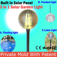 Yellow Solar Lights Solar Powered Lantern Lights Led Spot Lamp