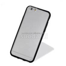 Hot sell Transparent Mobile Covers For iPhone 6, For iphone 6s TPU PC Clear Hard Back Sell Case