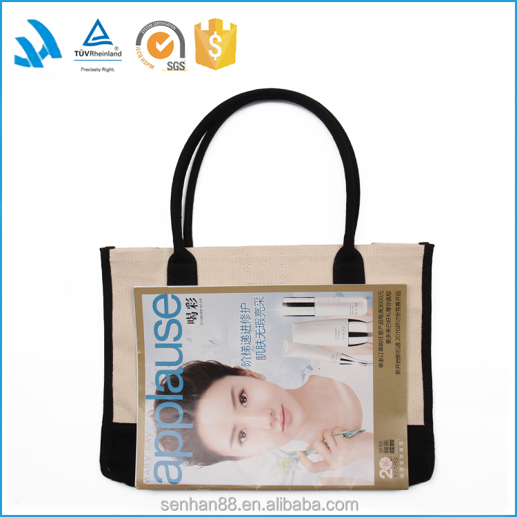 Best Design Fashion Custom Logo Printed Canvas Tote Bag No Minimum Wholesale