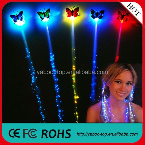 (Fashion) LED Flashing Hair Extension, Party Decoration LED Flashing Hair Accessories, Plastic Glowing Hair For Event & Party
