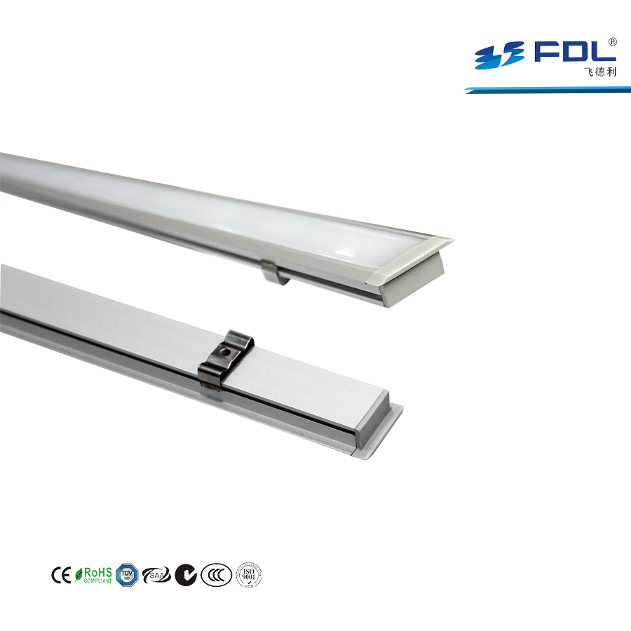 Shenzhen Supplier 12V 18W PC Cover LED Rigid Strip Light Linear Profile for Clothes Store Exhibition Hall