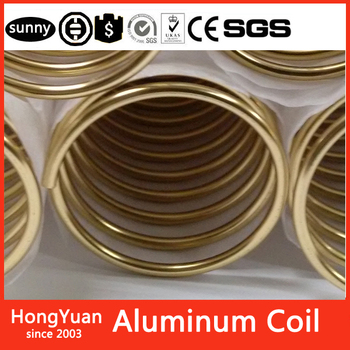 Made of top quanlity materials Gold Anodized Aluminum Coil, Rose Gold Color Coated Aluminum Coil,New Binding Supply